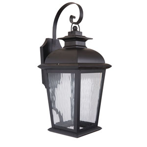 Branbury Oiled Bronze One-Light Medium LED Outdoor Wall Mount Lantern with Clear Water Glass