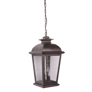 Branbury Oiled Bronze Three-Light Outdoor Pendant