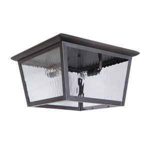 Branbury Oiled Bronze Two-Light Outdoor Ceiling Mount