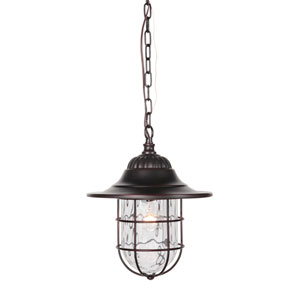 Fairmont Oiled Bronze Gilded One-Light Outdoor Pendant