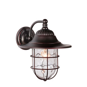 Fairmont Oiled Bronze Gilded One-Light Large Outdoor Wall Mount Lantern
