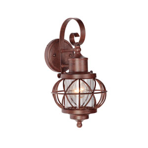 Revere Aged Bronze One-Light Small Outdoor Wall Mount Lantern