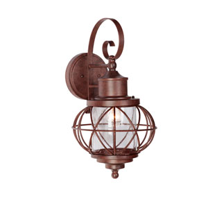 Revere Aged Bronze One-Light Large Outdoor Wall Mount Lantern