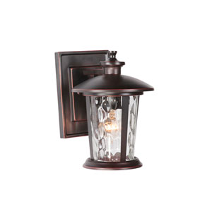 Summerhays Oiled Bronze Gilded One-Light Small Outdoor Wall Mount Lantern