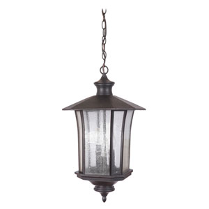 Chateau Oiled Bronze Gilded Three-Light Outdoor Pendant