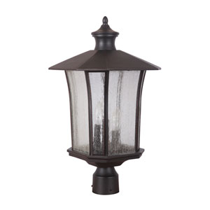Chateau Oiled Bronze Gilded Three-Light Outdoor Post Mount