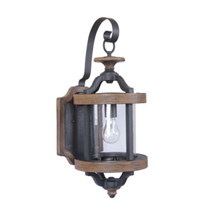 Ashwood Textured Black Nine-Inch Outdoor Wall Sconce