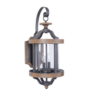 Ashwood Textured Black Ten-Inch Outdoor Wall Sconce