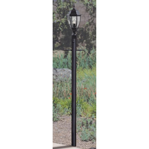 Matte Black 84-Inch Outdoor Post with Photocell Post