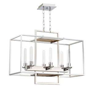 Cubic Chrome 12-Inch Six-Light Island Pendant