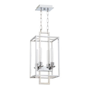 Cubic Chrome 11-Inch Four-Light Foyer