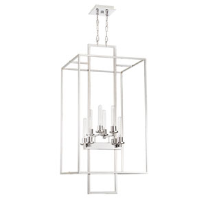 Cubic Chrome 21-Inch Eight-Light Foyer