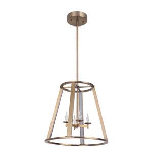 Opus Satin Brass 16-Inch LED Foyer