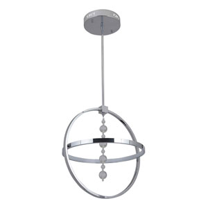 Anello Chrome 17-Inch One-Ring LED Pendant