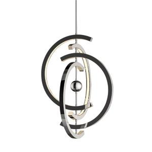 Anello Chrome 21-Inch Four-Ring LED Pendant