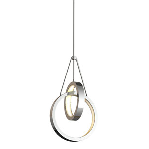 Anello Chrome 9-Inch Two-Ring LED Pendant