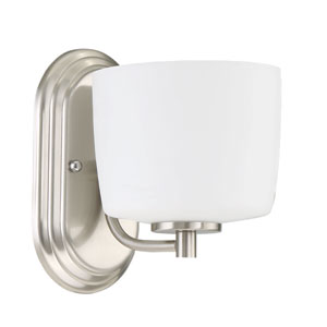 Clarendon Brushed Polished Nickel 6-Inch One-Light Wall Sconce