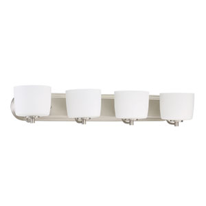 Clarendon Brushed Polished Nickel 32-Inch Four-Light Wall Sconce