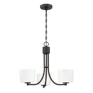 Clarendon Aged Bronze Brushed 22-Inch Three-Light Chandelier