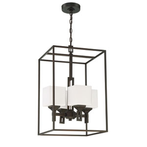 Urbane Oil Bronze Gilded 15-Inch Four-Light Foyer