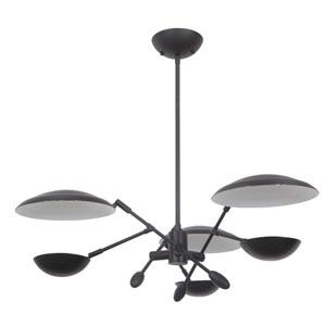 Pavilion Flat Black 30-Inch LED Chandelier