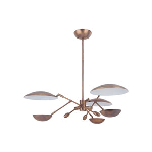 Pavilion Patina Aged Brass 30-Inch LED Chandelier