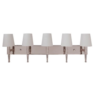 Ella Polished Nickel 39-Inch Five-Light Wall Sconce