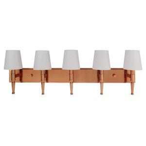 Ella Satin Brass 39-Inch Five-Light Wall Sconce