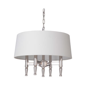 Ella Polished Nickel 18-Inch Four-Light Pendant
