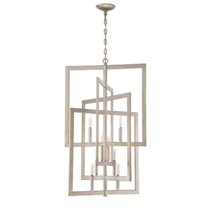 Portrait Gold Twilight 21-Inch Eight-Light Foyer