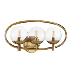 Piltz Satin Brass 23-Inch Three-Light Wall Sconce