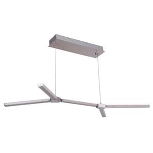 Horizon Chrome 25-Inch Five-Arm LED Island Pendant