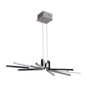 Pinnacle Chrome 15-Inch LED Chandelier
