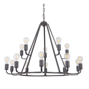 Arc Oil Bronze Gilded 35-Inch Fifteen-Light Chandelier