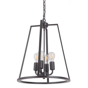 Arc Oil Bronze Gilded 16-Inch Four-Light Foyer
