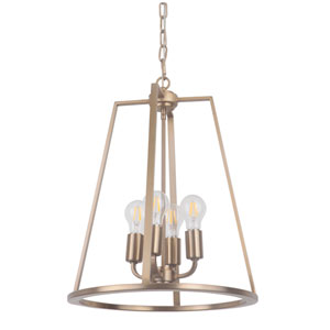 Arc Satin Brass 16-Inch Four-Light Foyer