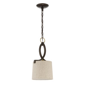 Colonial Antique Gold and Bronze 8-Inch One-Light Mini Pendant