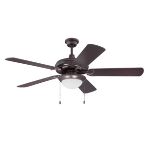 Civic Oiled Bronze Ceiling Fan with Cherry Blades and LED Light Kit