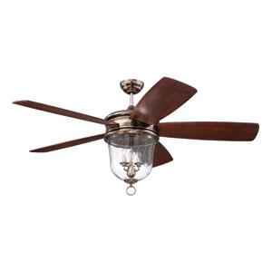 Fredericksburg Tarnished Silver Three-Light Ceiling Fan