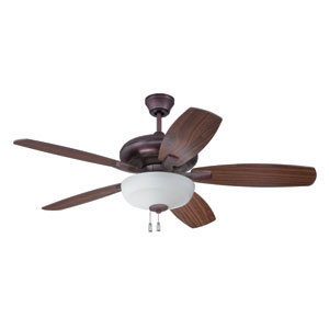 Forza Oiled Bronze Three-Light Ceiling Fan