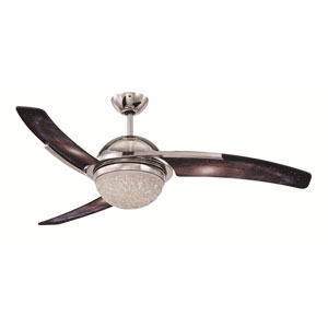 Juna Polished Nickel 54-Inch Ceiling Fan with LED Light Kit