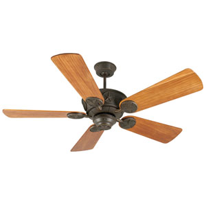Chaparral Aged Bronze Ceiling Fan with 54-Inch Premier Hand-Scraped Teak Blades