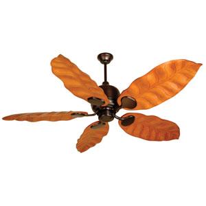 Kona Bay® Oiled Bronze Ceiling Fan with 58-Inch Tropic Isle Honey Oak Wave Blades