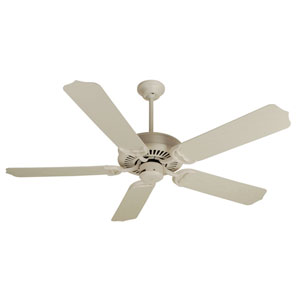 Porch Antique White Ceiling Fan with 52-Inch Outdoor Standard Antique White Blades