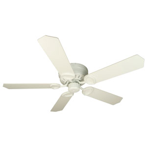 Universal Hugger White Ceiling Fan with 52-Inch Standard White Blades
