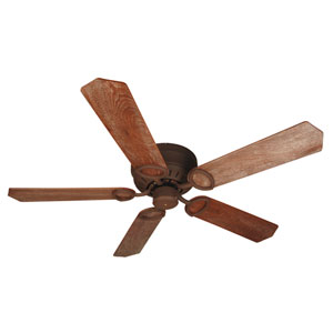 Universal Hugger Rustic Iron Ceiling Fan with 52-Inch Custom Wood Washed Walnut Birch Blades