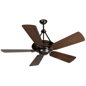 Metro Oiled Bronze Ceiling Fan with 54-Inch Premier Hand-Scraped Walnut Blades
