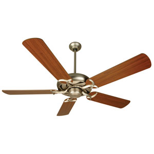 Civic Brushed Nickel Ceiling Fan with 52-Inch Plus Series Walnut Blades