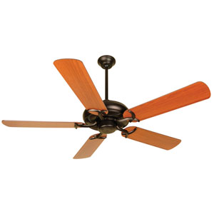 Civic Oiled Bronze Ceiling Fan with 52-Inch Plus Series Reversible Cherry/Rosewood Blades