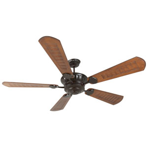 DC Epic Oiled Bronze Ceiling Fan with 70-Inch Custom Carved Scalloped Walnut Blades